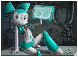 Jenny TV screen by 14-bis