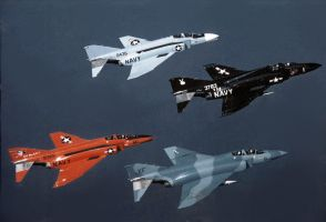 McDonnell Douglas F-4 Phantoms from China Lake by GeneralTate