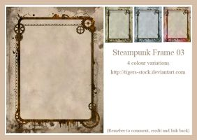 172 Steampunk Frame 03 by Tigers-stock