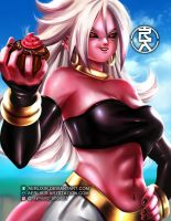 Android 21 (majin) by aerlixir