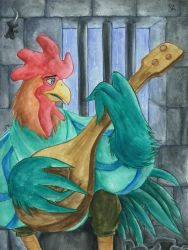 The Rooster by Merinid-DE