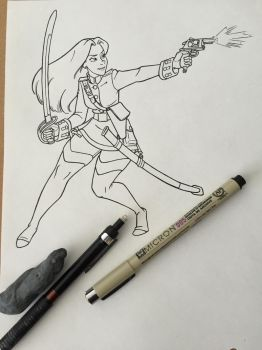 Captain, Lady Agatha WIP by jessehbechtold