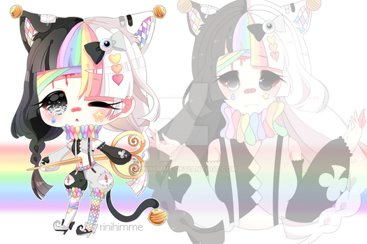 ~closed~ menhera pierrot (auction) by rinihimme
