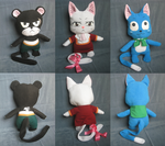 Fairy Tail Exceed Plushes by Bianka