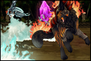 Battle of Fire and Ice by AmnesiaMoons