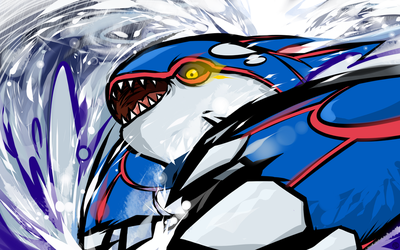 Kyogre | Water Spout by ishmam