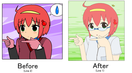 Lily Before and After (Lineart and Color) by Goddreary