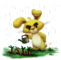 Day 575. Pooh Crossing - Rabbit by Cryptid-Creations