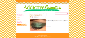 Addictive Cosmetics Blogger Template by mmmbisto