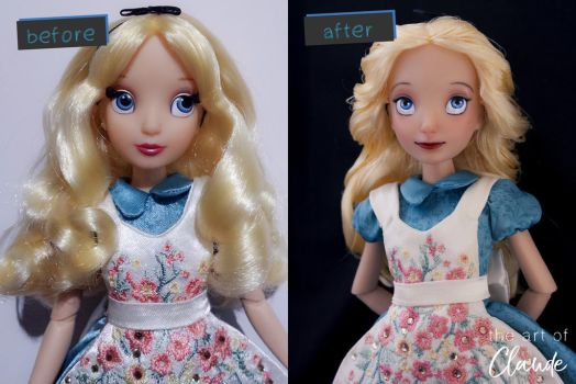 Disney Alice | Doll Repaint by claude-on-the-road