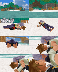 MMD - Sora and Riku on the beach by 93connector