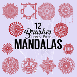 Mandala  Brushes 12 by LionessEdits