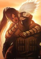 Kakashi And Yoruichi Color By Accuracy0 by DjTrizz