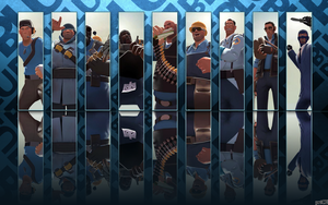Team Fortress 2 Blu Wallpaper by pr1CE
