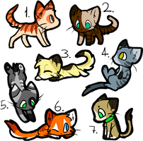 7 Cat Adopts [CLOSED] by TuftsDoubleU