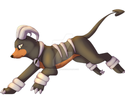 Houndoom by SolarXolverite
