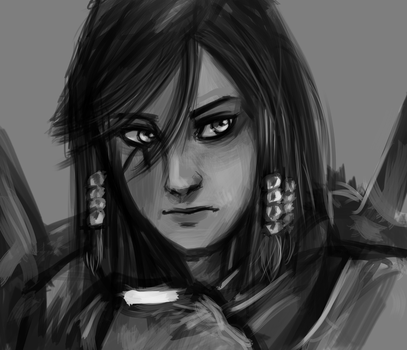 Pharah (without helmet) by Dovah-del-Norte