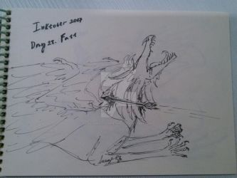 Alkara's Inktober. Day 28. Fall by Alkaras-Adventures