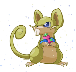 Shiny Rattata by Willow-Pendragon