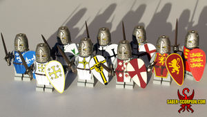 LEGO Crusader Knights by Saber-Scorpion