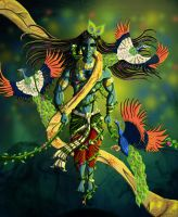 Krishna Letting Go Illustratio by saumitrakabra