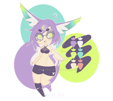 Moon Bunny Adoptable (CLOSED) by InkeyBae