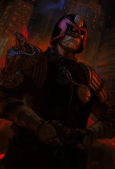 Judge Dredd by jeffszhang