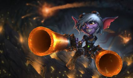 Tristana - League Of Legends - Fan Art by SkavenZverov