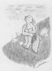 I feel the rain... by Wandering-wolves