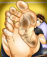 The Foot Prince showing off his feet by oratoe