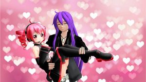[MMD] Teto and Gakupo- Cute little shorty by KasaneCandy778