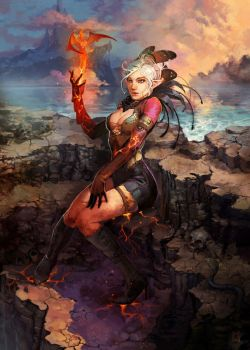 -Fire Spirit- by MarcBrunet