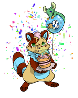 Happy Birthday Ovipets by PixelRaccoon
