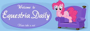 Equestria Daily Pinkie Pie Banner by Camsy34