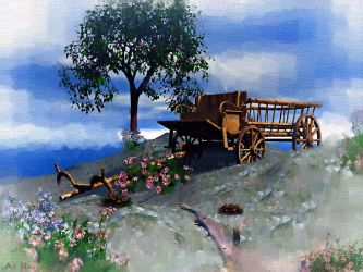 Old Wagon by Casperium