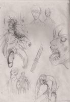 Zombies sketch by Laxus