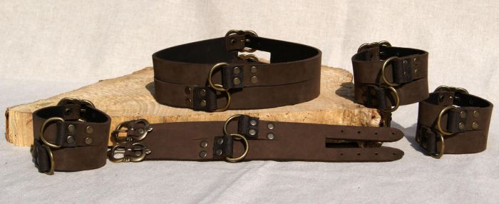 Leather Collar and Wristbands by Avanger