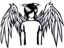 Emo Angel Boy Revisited by Skissored