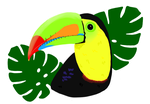 Keel-Billed Toucan by Dawntigerr