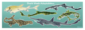 Shark Week Adoptables #2  OPEN by Mikaley