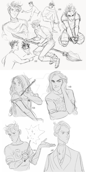 HP sketches by Natello