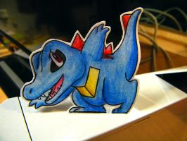 Paper Totodile