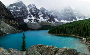 Moraine Lake Pano by KRHPhotography