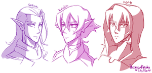 Voltron Sketchies by DragonAnalei
