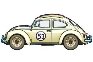 1963 VW Beetle by 451illustration