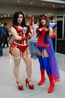 NYCC'14 Iron and Spider Maidens by zer0guard