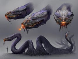 The Serpent Concept Art by Nigreda