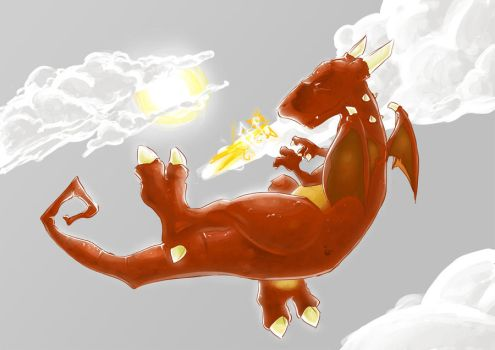 Er...Fire Dragon in the Sky? by Mop-of-the-Bucket