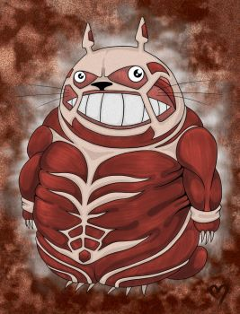 Attack on Totoro by lilman101