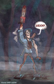 Ash Williams - Evil Dead by AndyKluthe